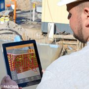 PASCHAL AR app on construction site