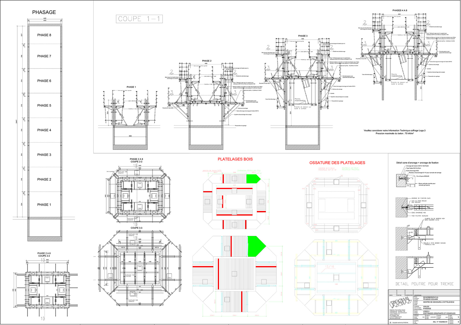 Detailed formwork planning with PASCHAL-Plan pro